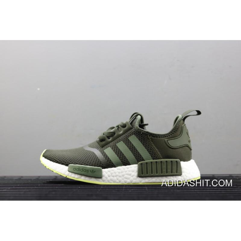 Adidas Nmd R1 Night Cargo Base Green Semi Frozen Yellow Outlet