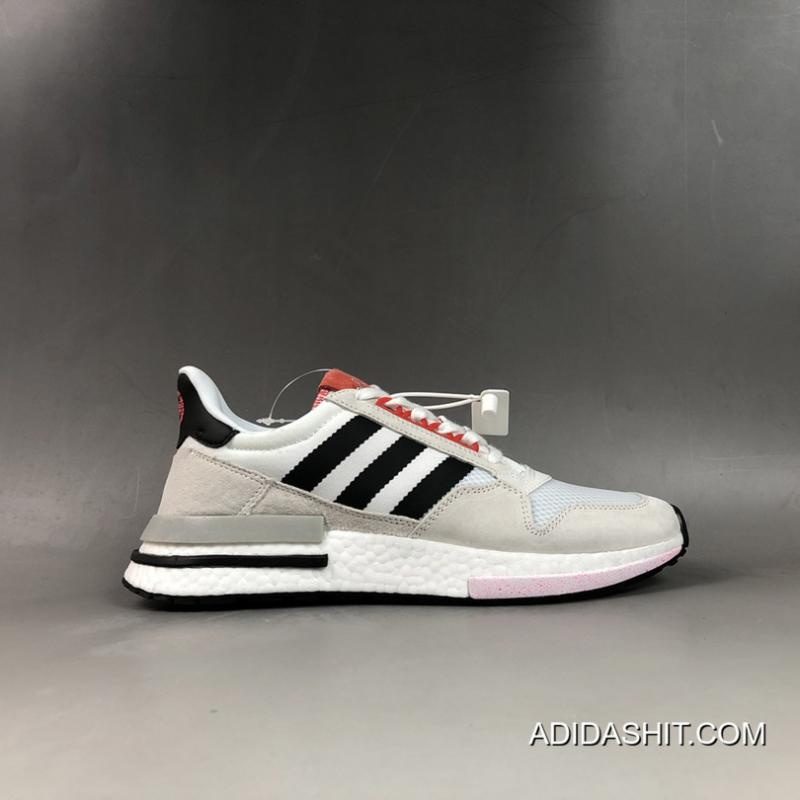 "WomenMen Online Adidas ZX 500 RM ""CNY"" Color: Cloud WhiteCore Black Shock Red"
