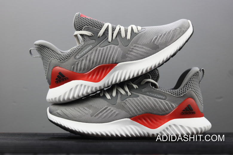 Adidas AlphaBounce Beyond Grey Grey Core Red Top Deals