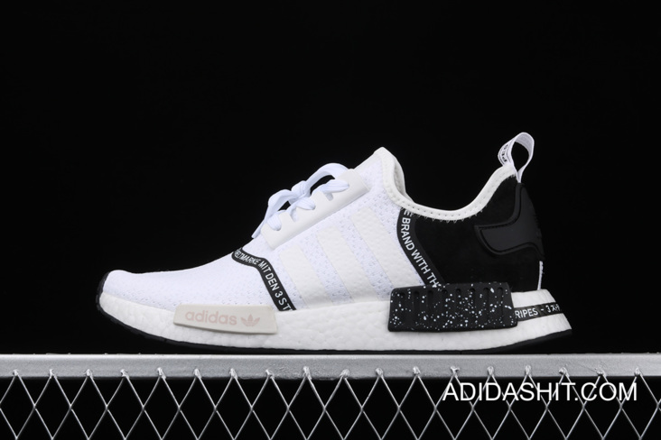 WomenMen Outlet Adidas NMD R1 White Black